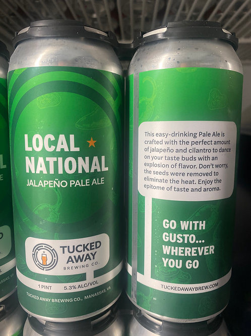 Tucked Away Brewing Co. | Jalapeño Pale Ale | 4-Pack
