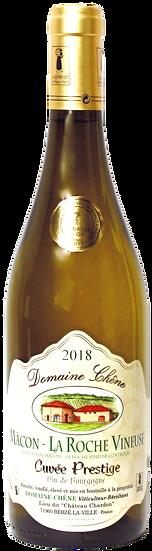 "2018 - Domaine Chêne - Mâcon  La Roche Vineuse AOC  ""Cuvée Prestige""(6er Kiste)"