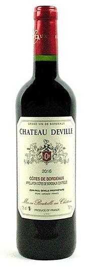 2016 - CHÂTEAU DEVILLE - CÔTES DE BORDEAUX AOC (6er Kiste)