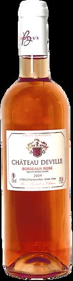 2019 - CHÂTEAU DEVILLE -  BORDEAUX ROSÈ AOC (6er Kiste)