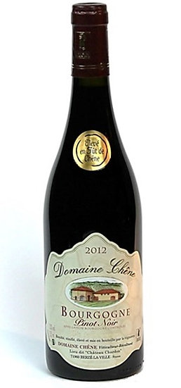 2012 - Domaine Chêne - Bourgogne Pinot Noir AOC Fût de Chêne (6er Kiste)