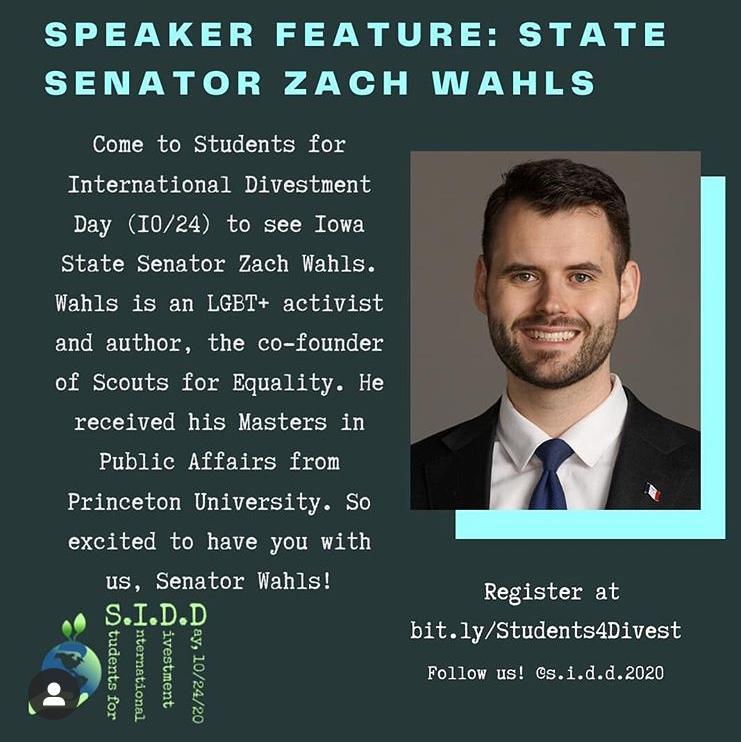 State Senator Zach Wahs *18