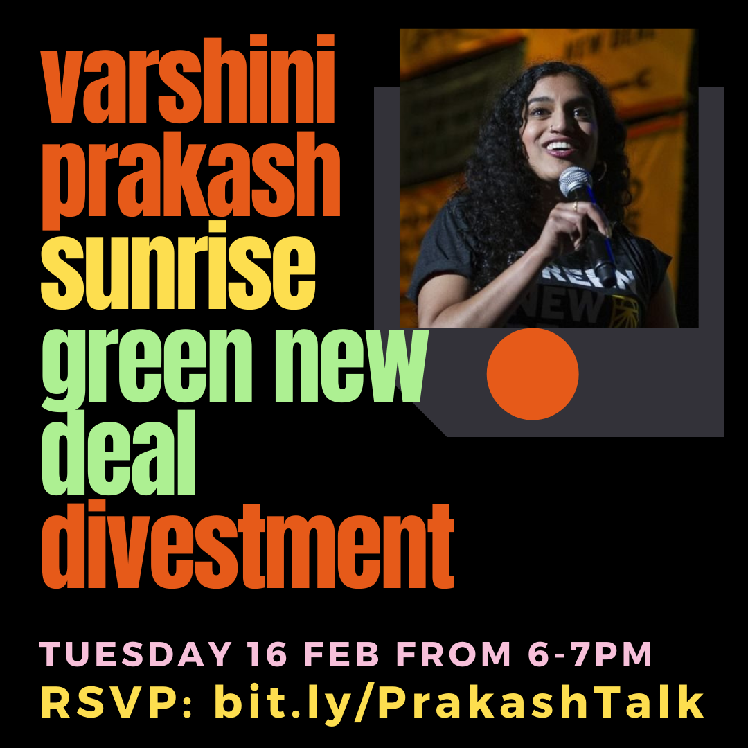 Varshini Prakash Talk - Founder of the Sunrise Movement