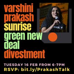 Varshini Prakash Talk - Founder of the Sunrise Movement