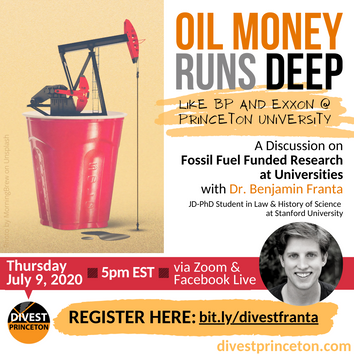 A Discussion on Fossil Fuel Funded Research at Universities with Dr. Ben Franta