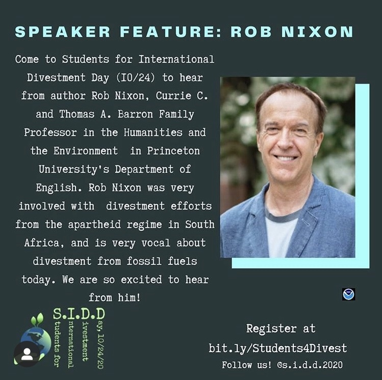 Rob Nixon, Princeton professor & author.