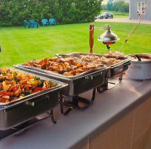 Chaplin Catering Hot Buffet Outdoor Wedding