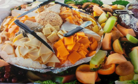 Caterer Chaplin Catering cheese tray