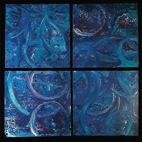 4 Canvas Pour Paint