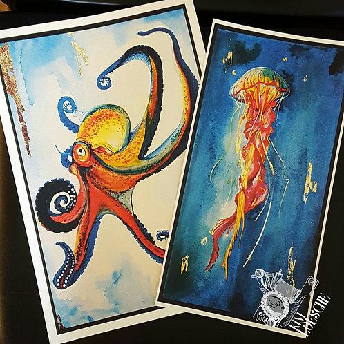 Set of 2 Watercolor Prints