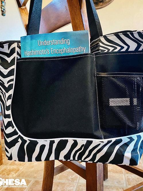 Zebra Print Tote Bag (black & white)