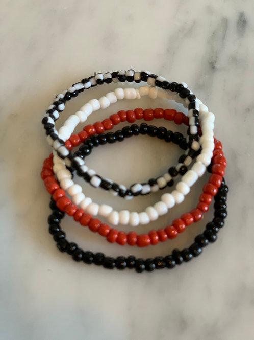 Stretch stackable awareness bracelets