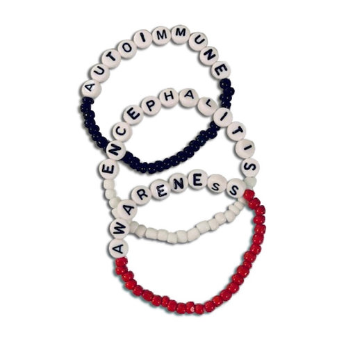 "Beaded ""Autoimmune Encephalitis Awareness"" Stackable Bracelets"