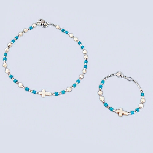 Turquoise and stone cross collection