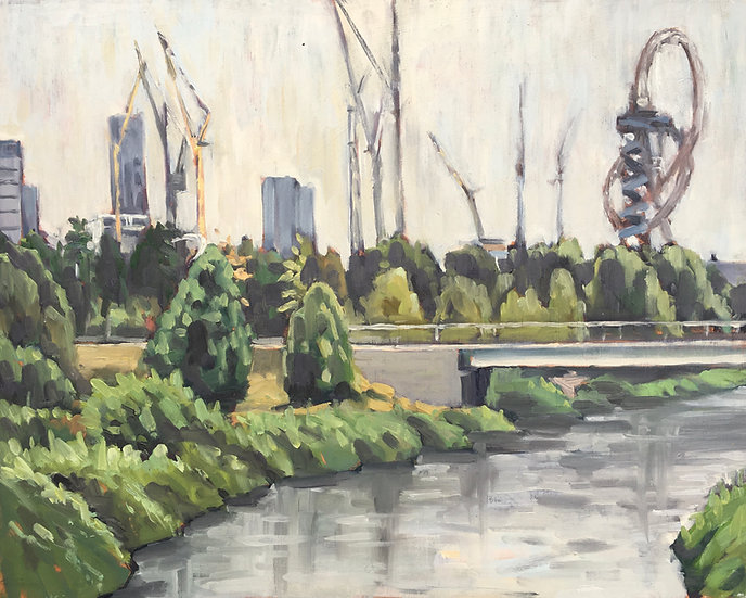 Landscape Artist of the Year semi final painting - Olympic Park, London