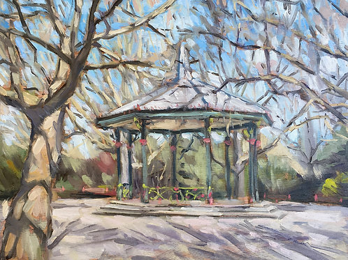 Battersea Park bandstand plein air