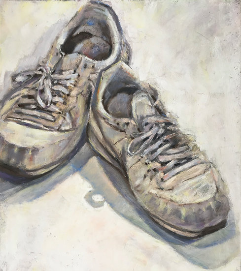 Battered old trainers