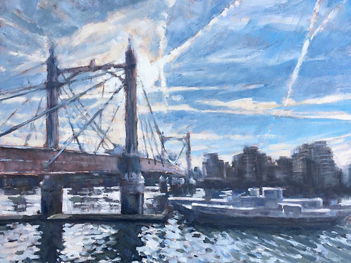 Albert Bridge contre jour