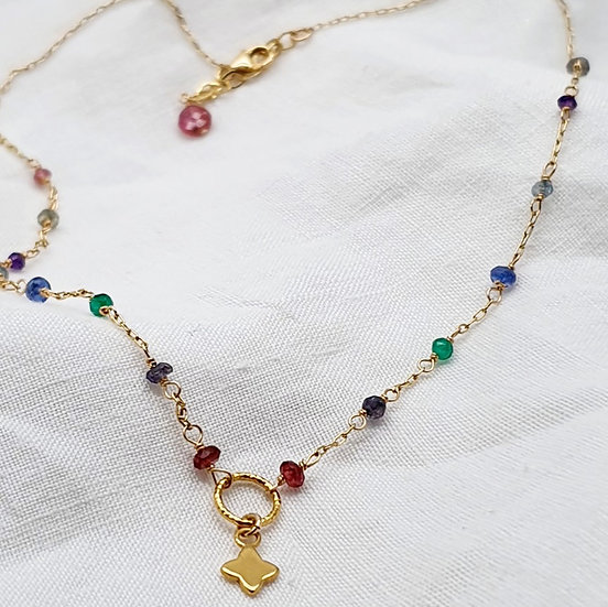 Rainbow short necklace