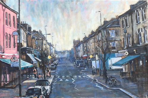 Northcote Road, winter light