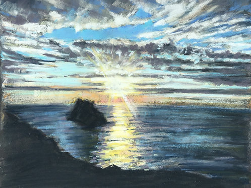 Cornish sunset, Boscastle