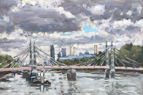 Albert Bridge summer sky