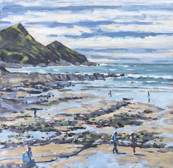 Crackington Haven, tide's out