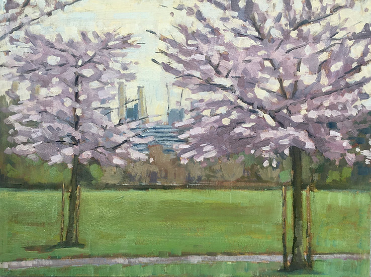 Blossom and Battersea Power Station