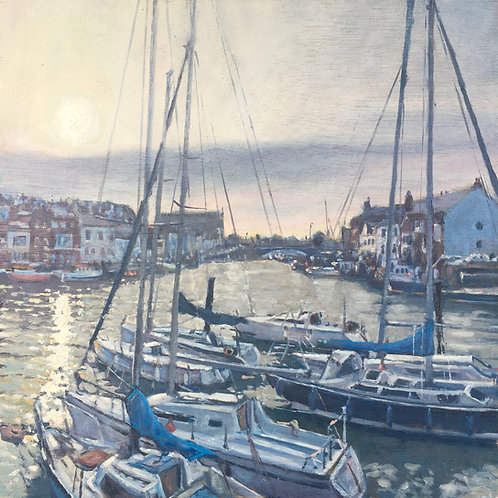 Last light, Weymouth harbour