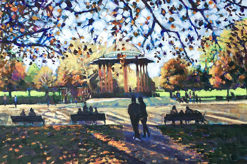 Autumn at the Bandstand, Clapham Common