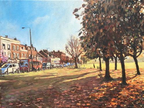 Bellevue Road autumn, Wandsworth Common