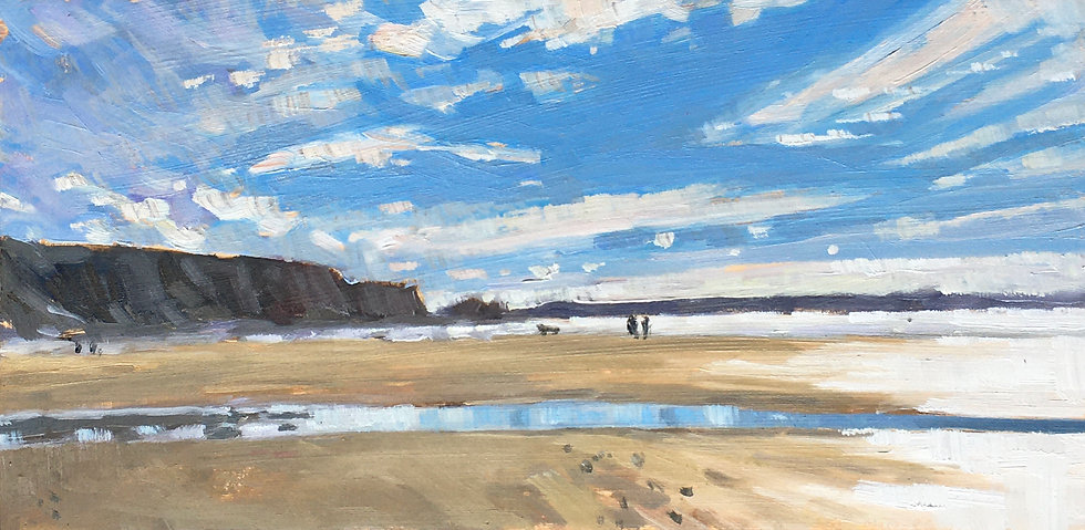 Watergate Bay, low tide Spring