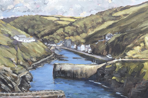 Late afternoon Boscastle, Cornish landscape