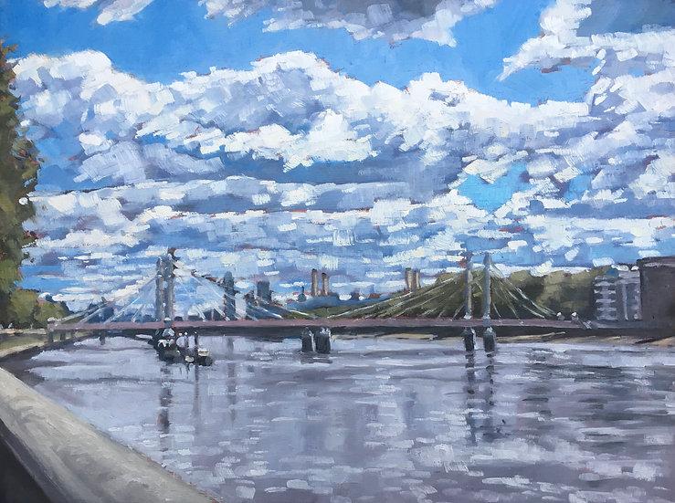 Albert Bridge summer skies