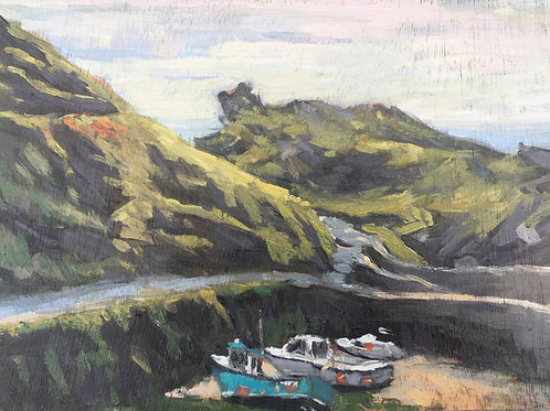Low tide, Boscastle