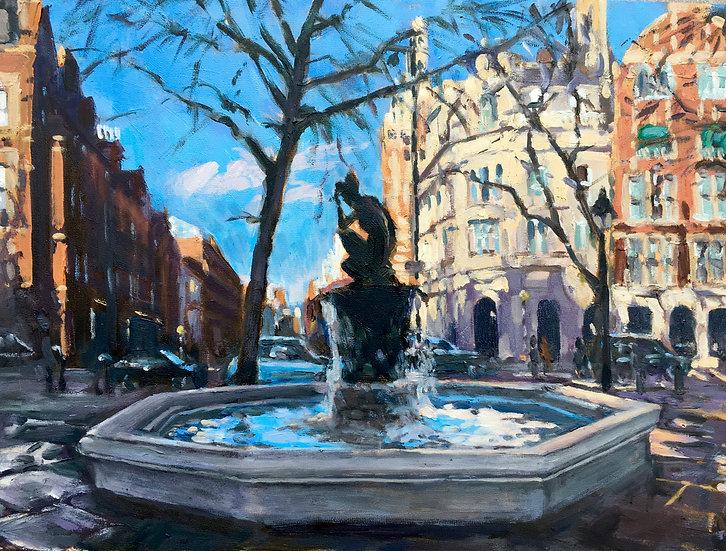 Sloane Square winter sun