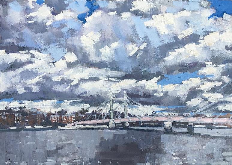 Albert Bridge under a big sky