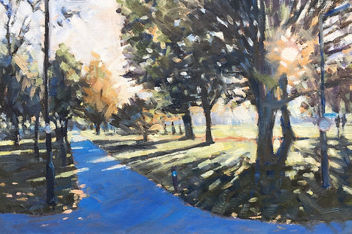 Wandsworth Common Autumn path