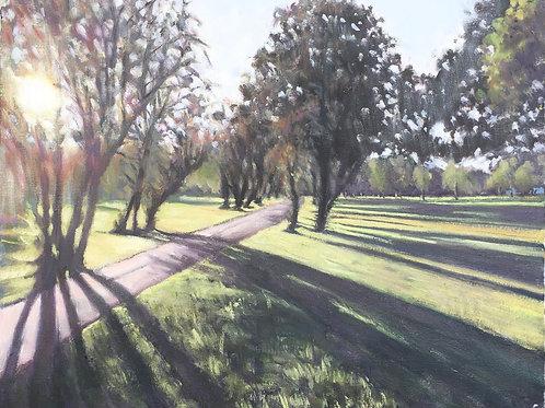 Long shadows, Wandsworth Common