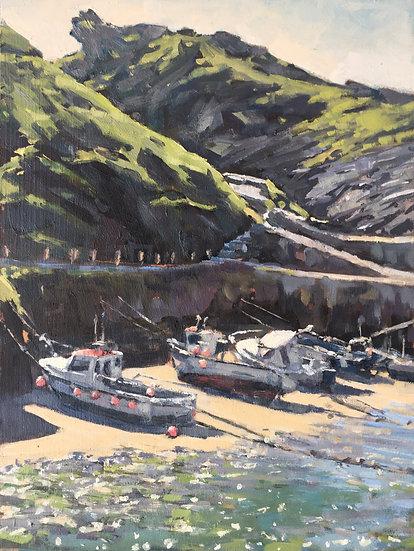 Boats in Boscastle Harbour