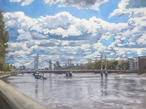 Albert Bridge summer skies