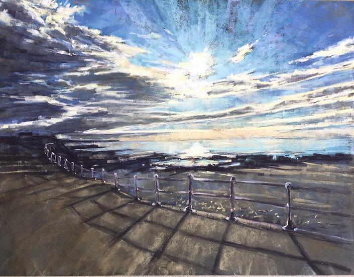 Autumn sun over Crooklets beach - Bude