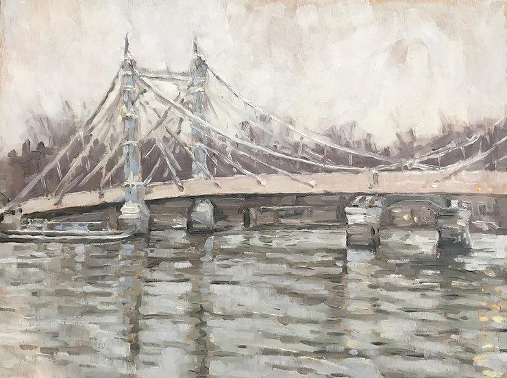 Albert bridge winter