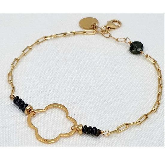 Clover bracelet - black spinel
