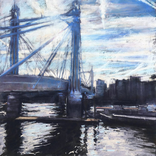 Albert Bridge contre jour - London