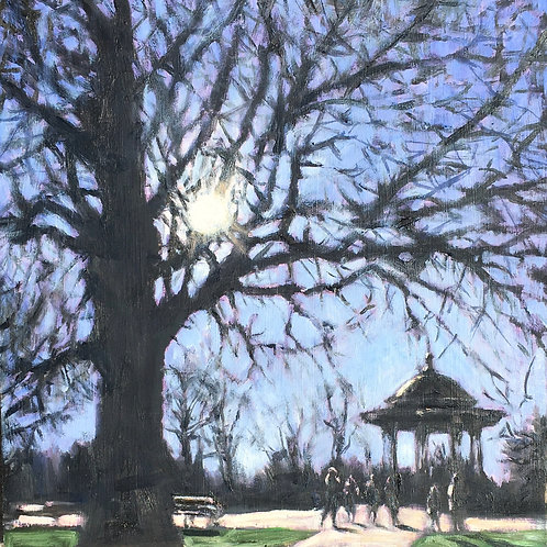 Winter sun, Clapham Common