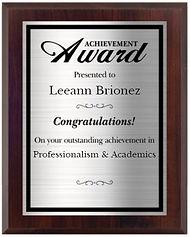 Leann Brionez Award.JPG