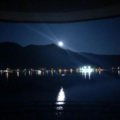 Moonlight over Slano Bay