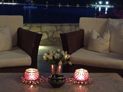 Evening on terrace