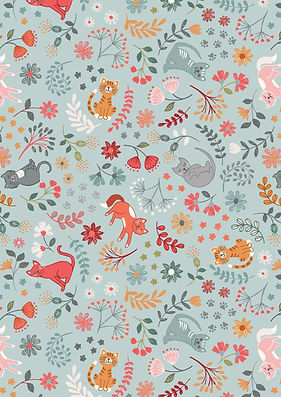 A471.2 Floral Cats on warm blue.jpg